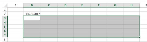 Подключаем Excel к созданию календаря
