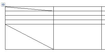 как разбить ячейку в ворде по диагонали